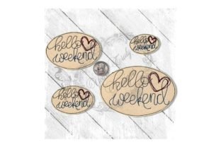 Hello Weekend Heart Vacation Embroidery Design By Yours Truly Designs