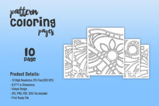 Print on Demand: KDP Interiors - Abstract Pattern Graphic Coloring Pages & Books Adults By TSDesign