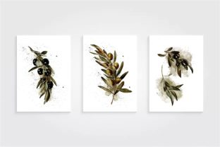 Olive Art Print, Olives Watercolor Print Graphic Illustrations By Arte de Catrin