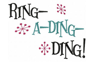 Ring a Ding Ding North America Embroidery Design By Ballyhoo Creations