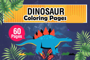 Unique and Fun Dinosaur Coloring Pages Graphic Coloring Pages & Books Kids By KDP Master Studio 1