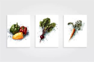 Vegetable Illustration, Peppers, Carrots Graphic Illustrations By Arte de Catrin