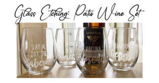Etching: Patio Wine Glasses
