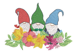 3 Gnomes Babies & Kids Embroidery Design By Canada Crafts Studio