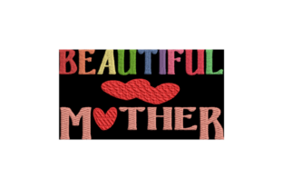 Beautiful Mother Mother's Day Embroidery Design By Wingsical Whims Designs