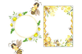 Bee Clipart. Summer, Honey, Flowers Graphic Add-ons By EvArtPrint 3