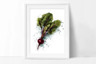 Beet Print, Vegetables Posters, Wall Art Graphic Illustrations By Arte de Catrin