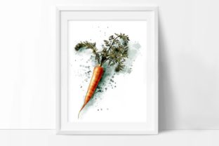 Carrot Print, Vegetables Posters Art Graphic Illustrations By Arte de Catrin