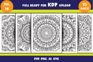 Print on Demand: Coloring Page Svg Bundle Mandala Adult Graphic Coloring Pages & Books Adults By NGISED 1
