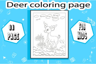 Deer Coloring Page ! Little Deer Graphic Coloring Pages & Books Kids By sumonakando97 1