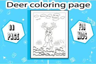 Deer Coloring Page ! Little Deer Graphic Coloring Pages & Books Kids By sumonakando97 2