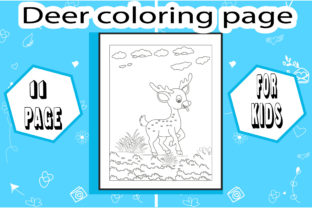 Deer Coloring Page ! Little Deer Graphic Coloring Pages & Books Kids By sumonakando97 3