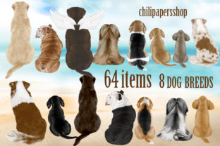 Print on Demand: Dog Breeds Clipart,Dogs Clip Art,Pets Graphic Illustrations By ChiliPapers 1