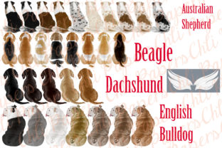 Print on Demand: Dog Breeds Clipart,Dogs Clip Art,Pets Graphic Illustrations By ChiliPapers 2