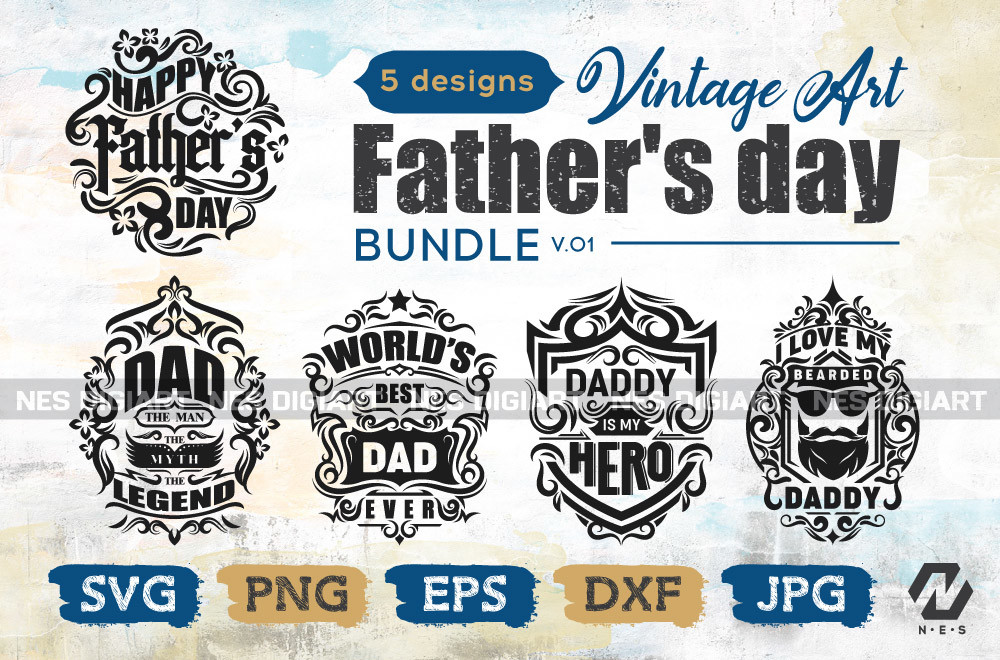 Father's Day Bundle SVG File