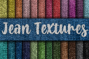 Print on Demand: Jean Textures Digital Paper Graphic Textures By oldmarketdesigns