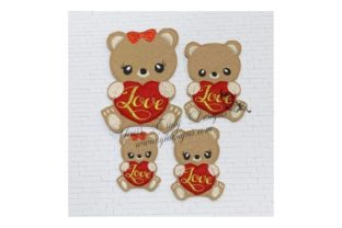 Love Animal Teddy Teddy Bears Embroidery Design By Yours Truly Designs