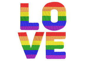 Love Rainbow Awareness & Inspiration Embroidery Design By Canada Crafts Studio