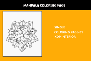 Print on Demand: Mandala Coloring Page Graphic Coloring Pages & Books Kids By infinity360 1