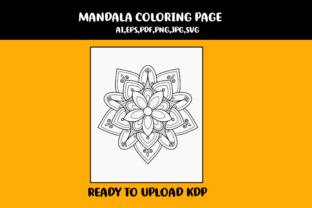 Print on Demand: Mandala Coloring Page Graphic Coloring Pages & Books Kids By infinity360 3