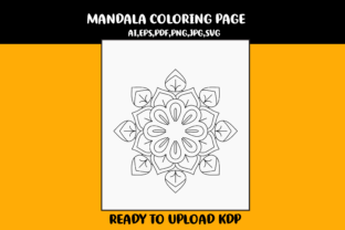 Print on Demand: Mandala Coloring Single Page Graphic Coloring Pages & Books Kids By infinity360 3