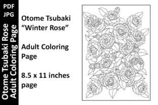 Otome Tsubaki - Flowers Coloring Page 10 Graphic Coloring Pages & Books Adults By Oxyp