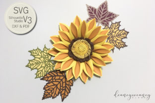 Paper Gazania Template Graphic 3D Flowers By Deaney Weaney Blooms