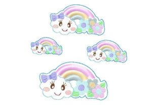 Rainbow Beauty Summer Embroidery Design By Yours Truly Designs 2