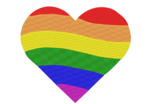 Rainbow Heart Awareness & Inspiration Embroidery Design By Canada Crafts Studio