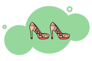 Print on Demand: Rainbow Icon High Heels Background Art Graphic Icons By isalnesia