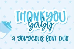 Print on Demand: Thank You Baby Script & Handwritten Font By BitongType