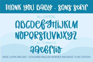 Print on Demand: Thank You Baby Script & Handwritten Font By BitongType 10