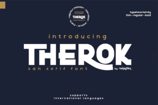 Print on Demand: Therok Display Font By twinletter