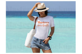 Tropical Beachy White Tshirt Mockup Graphic Product Mockups By Masters of Mockups