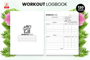 Print on Demand: Workout Log Book - KDP Interior Graphic KDP Interiors By Design invention
