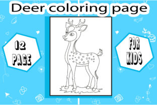 Deer Coloring Book! Unique Coloring Page Graphic Coloring Pages & Books Kids By sumonakando97 1