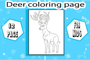 Deer Coloring Book! Unique Coloring Page Graphic Coloring Pages & Books Kids By sumonakando97 2