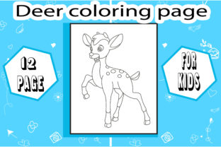 Deer Coloring Book! Unique Coloring Page Graphic Coloring Pages & Books Kids By sumonakando97 3