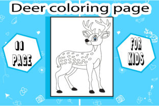 Deer Coloring Page with Deatails Graphic Coloring Pages & Books Kids By sumonakando97 1