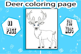 Deer Coloring Page with Deatails Graphic Coloring Pages & Books Kids By sumonakando97 2
