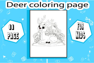 Deer Coloring Page with Deatails Graphic Coloring Pages & Books Kids By sumonakando97 3
