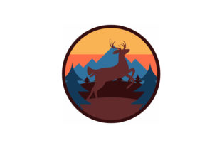 Print on Demand: Vintage Deer Patch Graphic Objects By Wilansa