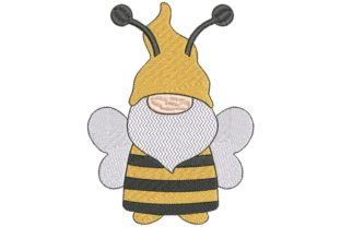 Bee Gnome Bugs & Insects Embroidery Design By BabyNucci Embroidery Designs 1