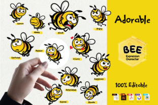Bee's Expression Character Graphic Icons By ketapelcreative
