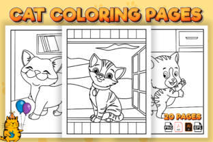 Print on Demand: Cute Cat Coloring Pages for Kids - Kdp Graphic Coloring Pages & Books Kids By Kristy Coloring