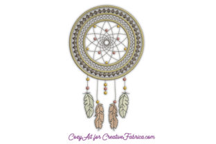Dream Catcher in Ethnic Style Boho Embroidery Design By CozyAit