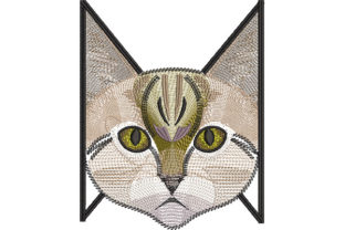 Print on Demand: Egyptian Cat Cats Embroidery Design By Dizzy Embroidery Designs