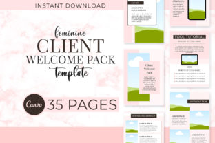 Print on Demand: Feminine Client Welcome Pack Graphic Presentation Templates By SnapyBiz