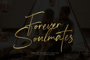 Print on Demand: Forever Soulmates Script & Handwritten Font By Salt and Pepper Fonts 1