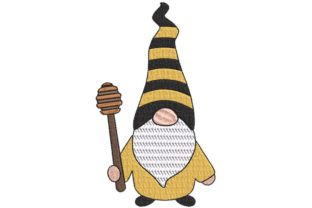 Gnome Master of Bees Food & Dining Embroidery Design By BabyNucci Embroidery Designs